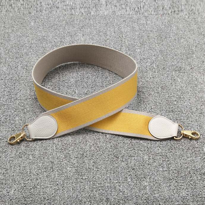 "2"" Wide Bi-color khaki/Yellow Canvas Shoulder Strap Crossbody Bag Purse Handbag"