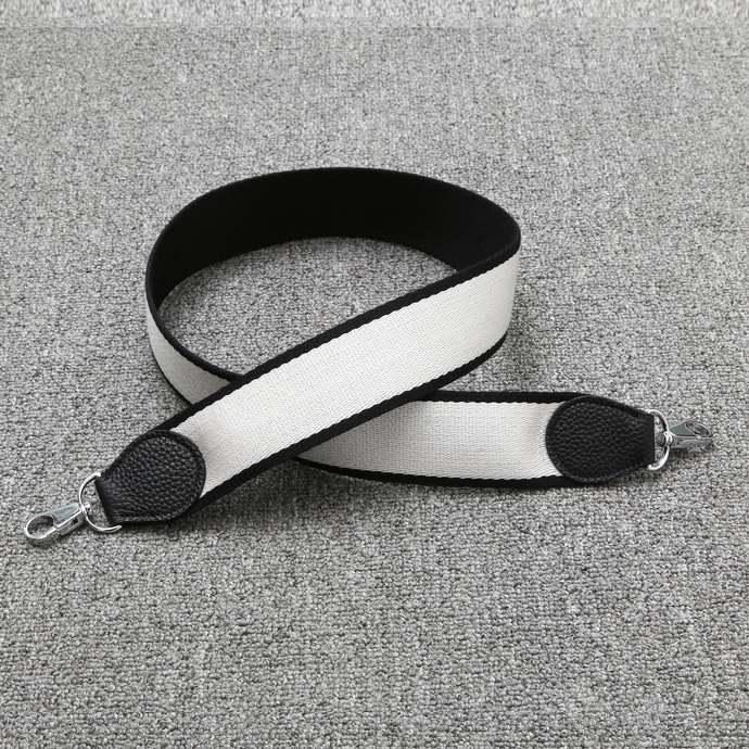 50mm Bi-color Black/White Canvas Shoulder Strap Crossbody Bag Purse Handbag