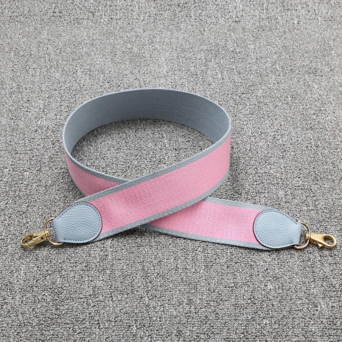 Detachable Bag Straps Bi-color Blue zephyr/Pink Canvas Shoulder Strap Amazon