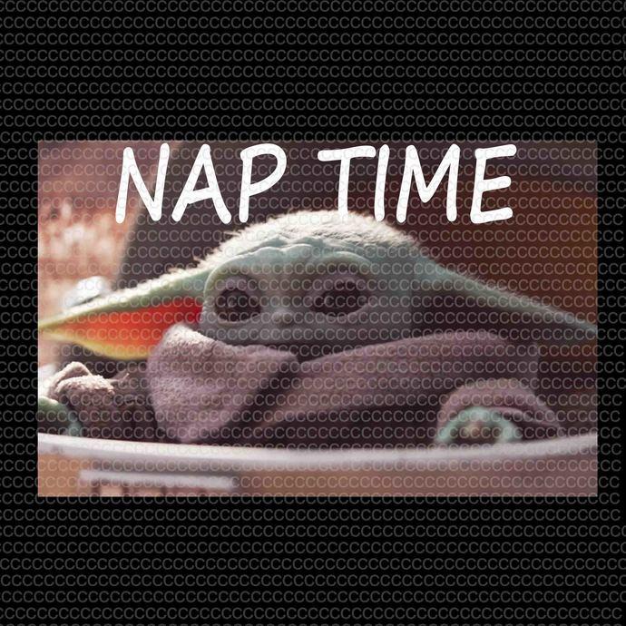 Nap Time Yoda png, Baby Yoda jpg, Baby Yoda design, Baby Yoda vector, Baby Yoda
