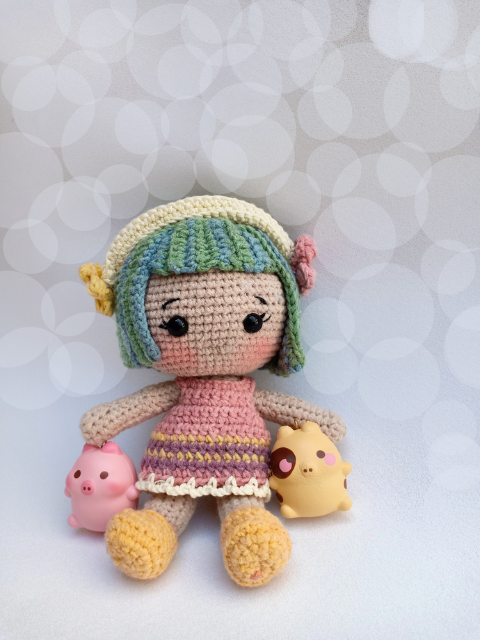 "MIMIKO from ""SWEETYDOLLBOXES"" collection / doll crochet pattern (Amigurumi"