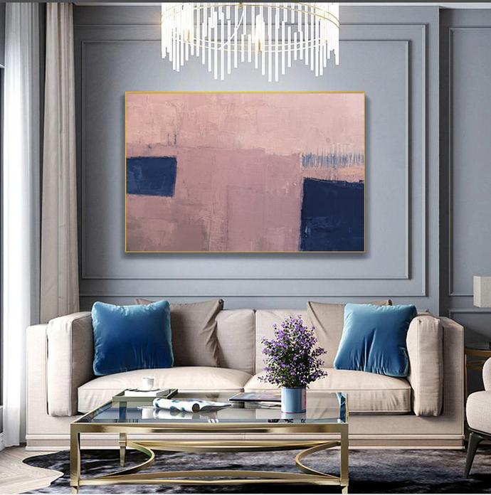 Printable Art, Art Poster, Digital Download, Wall Decor horizontal , navy blue