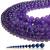 Natural Round Purple Amethyst Healing and Energy Gemstone Loose Beads Bracelet