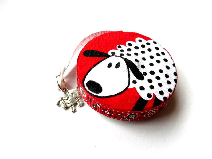 Tape Measure Black and White Sheep Small Retractable Measuring Tape