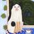 Window Cat and Turf House Original Cat Folk Art Painting