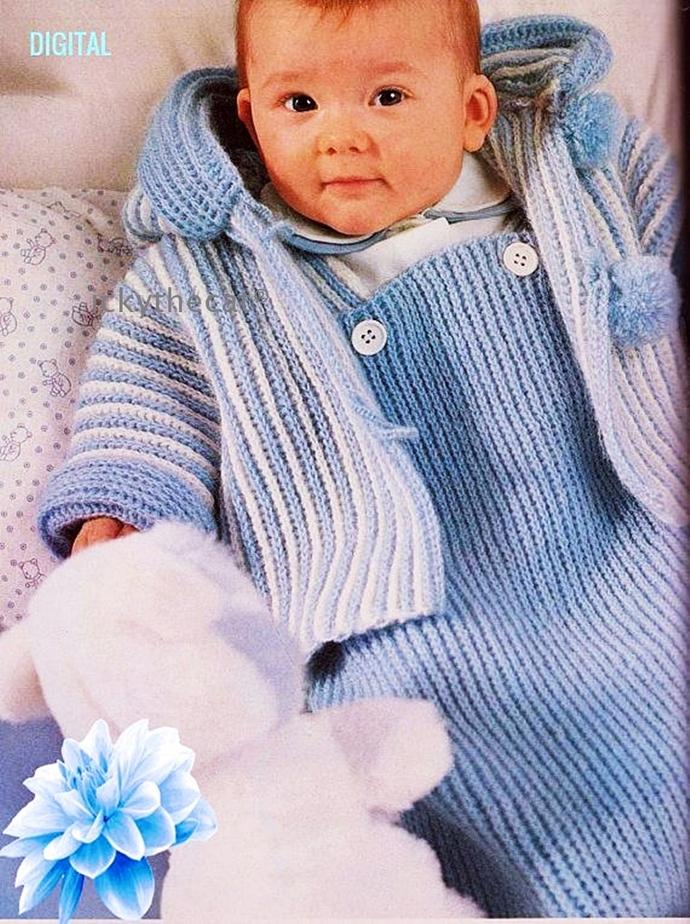 Instant PDF Digital Download Vintage Crochet Pattern Baby Bunting Sleeping Bag