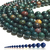 Natural Round Green Blood Stone Healing and Energy Gemstone Loose Beads Bracelet