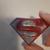 Superman Magnet - resin, paint, glitter
