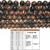 Natural Round Breciated Jasper Healing and Energy Gemstone Loose Beads Bracelet
