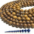 Natural Round Elephant Skin Jasper Healing Energy Gemstone Loose Beads Bracelet