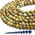 Natural Round Picture Jasper Stone Healing Energy Gemstone Loose Beads Bracelet