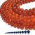 Natural Round Red Agate Stone Healing Energy Gemstone Loose Beads Bracelet