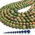 Natural Round Green Unakite Jasper Healing Energy Gemstone Loose Beads Bracelet