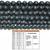 Natural Round Black Lava Stone Healing Energy Gemstone Loose Beads Bracelet