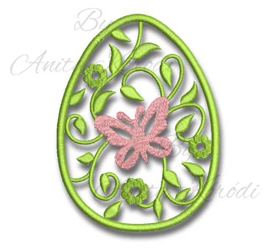 Easter Embroidery Machine Design Set 9 Items Instant Download Design Bunny Egg