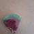 Watermelon Slice w handpainted seeds (resin, glitter, paint)