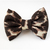 Leopard Print Bow Tie for Cat Collar, Elastic, Removable, Pet Attire