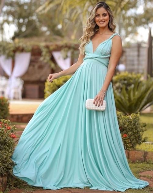 turquoise blue long prom dresses 2020 infinite convertible chiffon simple