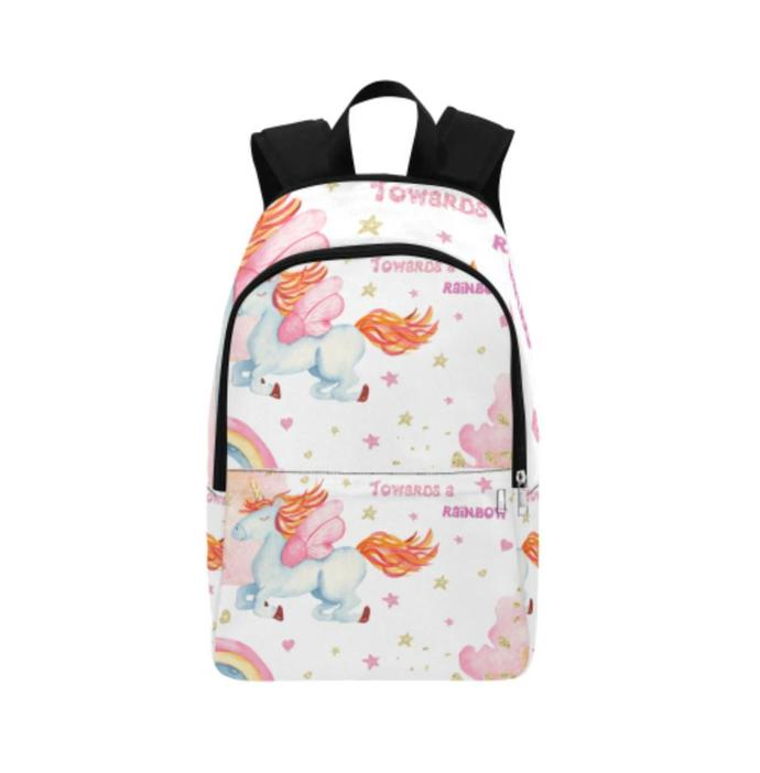 Watercolor Unicorn Fabric Backpack for Adult, Unisex Backpack