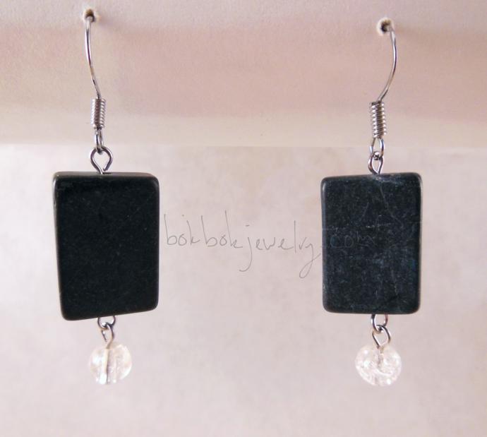 Gray Dangle Earrings