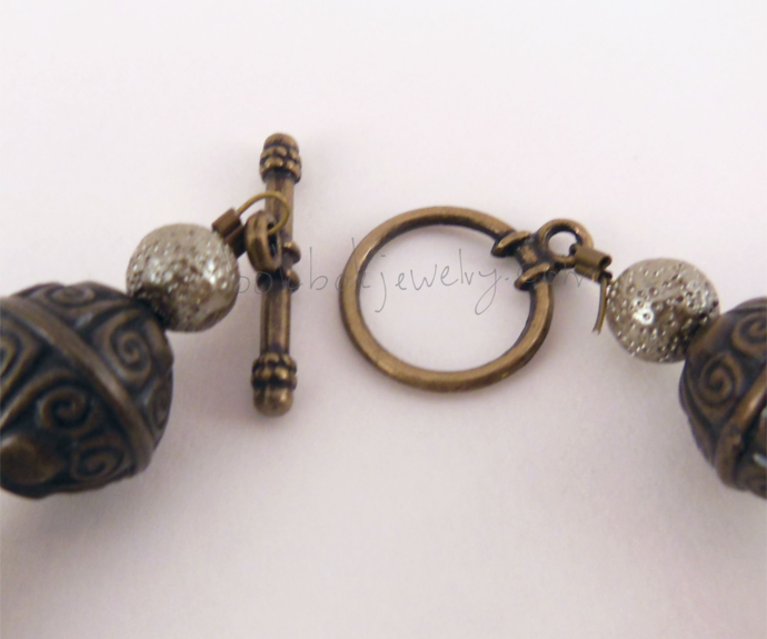 Brassy Beaded Bracelet