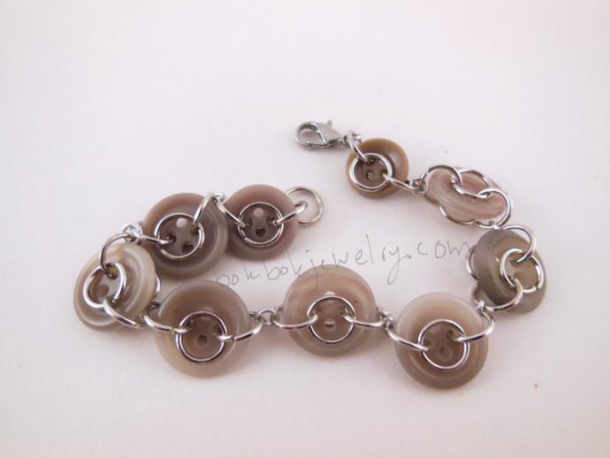 Handmade Upcycled Button Bracelet