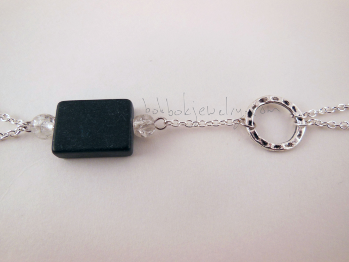 Gray Handflower Bracelet
