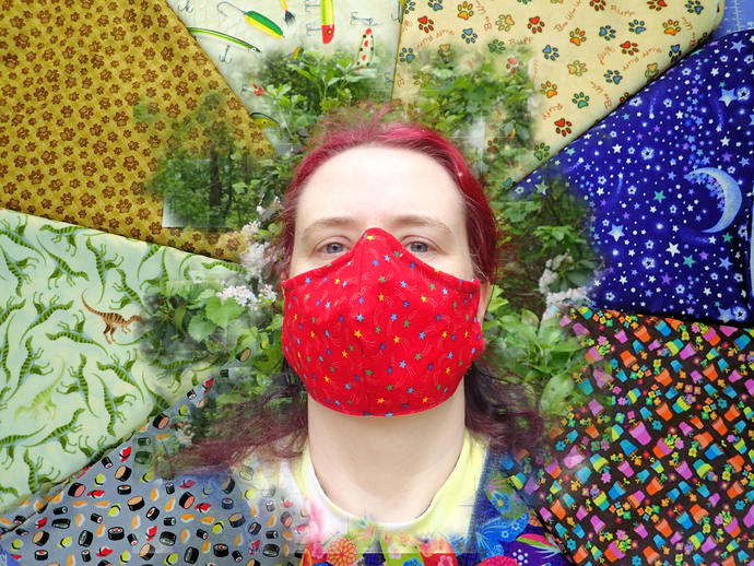 fun handmade washable face mask 100% cotton & flannel choose your fabric- wire