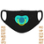 face mask embroidery design,Pacifier face mask embroidery,Adults Kids,Pacifier
