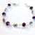 Silver Wire Wrapped Purple Crystal Bracelet