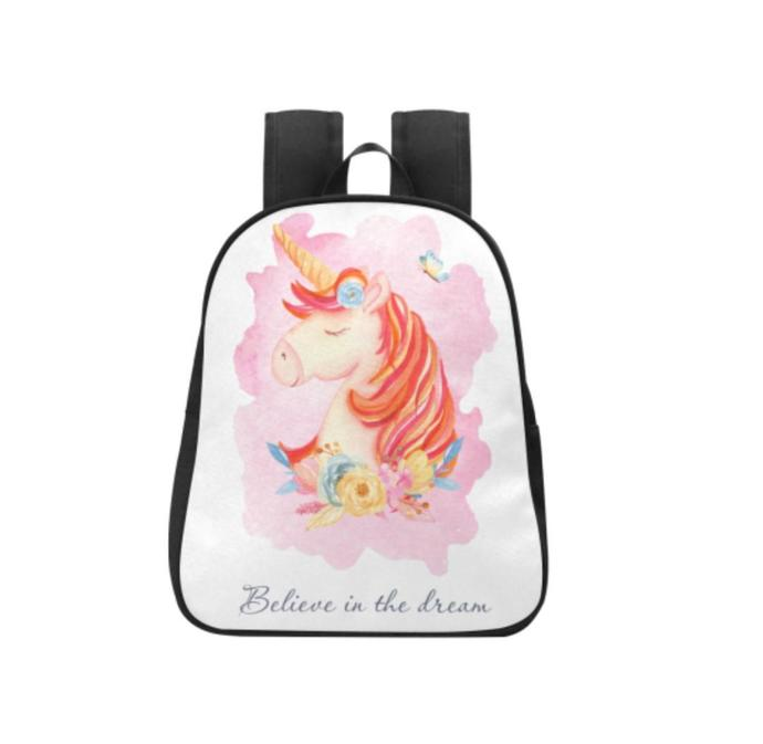 Unicorn Believe in the dream Fabric School Backpack, Kid's Backpack