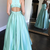 Elegant O-Neck A-Line Prom Dresses,Long Prom Dresses,Cheap Prom Dresses, Evening