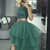 Two Pieces A-Line Prom Dresses,Long Prom Dresses,Cheap Prom Dresses, Evening