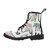 Floral Caligraphy Martin Boots For Women, Floral Women's Boots