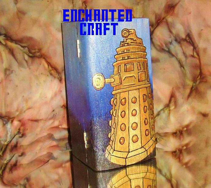 Dr Who? gold DALEK box- hand painted