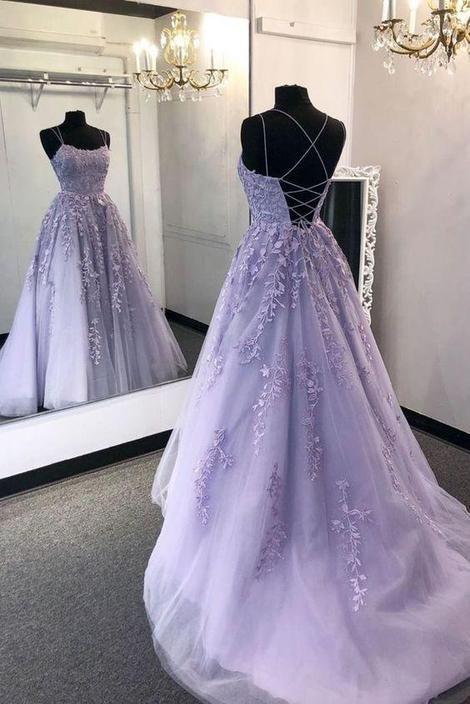 Light Purple Prom Dress Long, Evening Dress, Formal Dress, Graduation  Dress