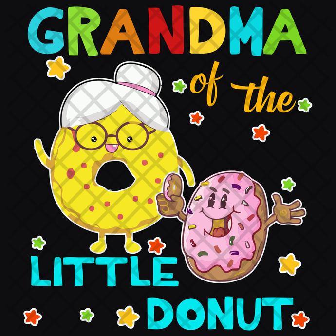 Grandma little donut,  donut svg, donut party, donut birthday, grandma svg,