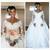 white wedding dresses boho long sleeve deep v neck Lace Applique beaded elegant