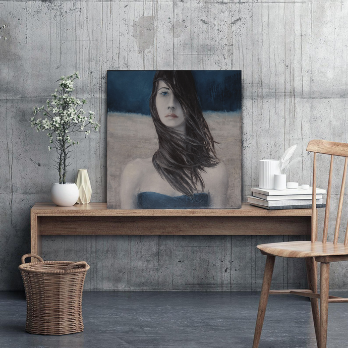 Original painting portrait ,Contemporary Portrait Art ,Woman art on canvas,Woman