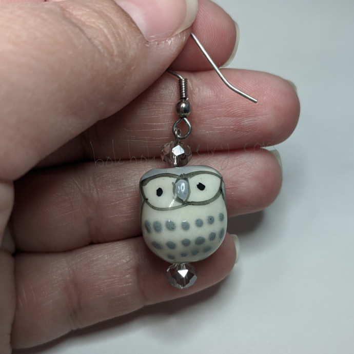 Ceramic Critters Earrings - One Pair Animal Earrings, Bird Earrings