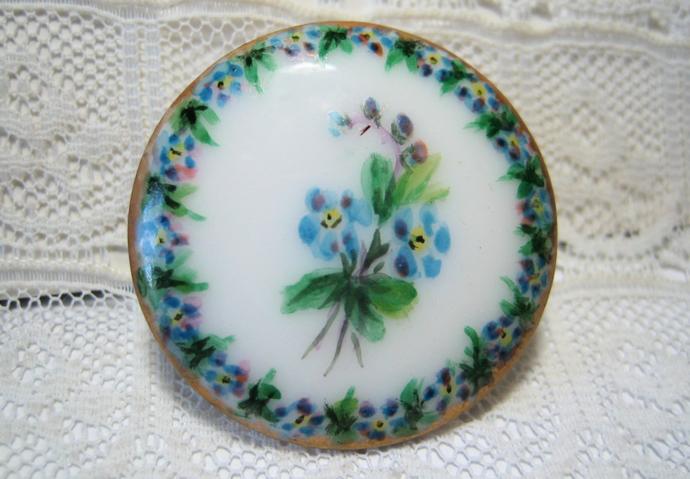 Beautiful Antique Porcelain Stud Button