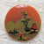 Hand Painted Vintage Vegetable Ivory Button