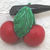 Wonderful Weeber Like Celluloid Cherries, Leaf and Branch Button #3