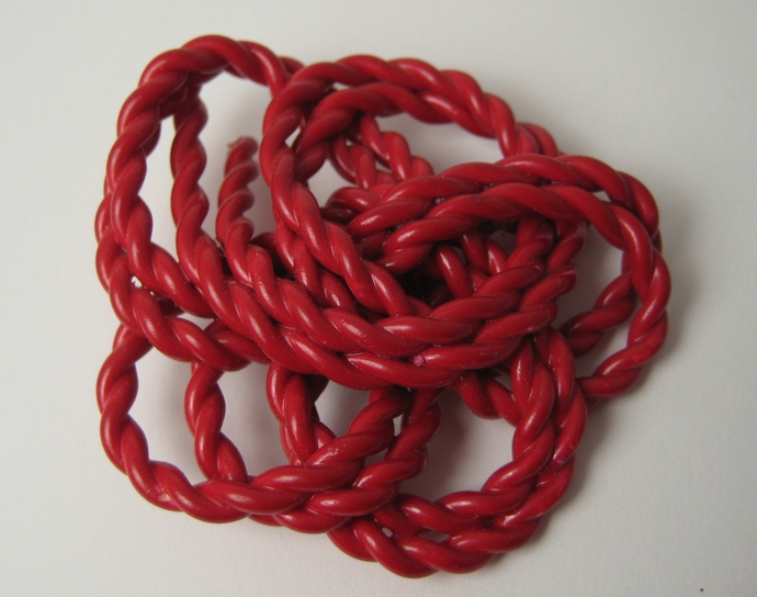 Large Extruded Red Celluloid Button