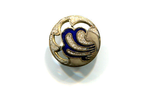 Small Antique Enamel Button