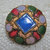 Antique Blue Basse-taille Center Enamel Button NBS Small