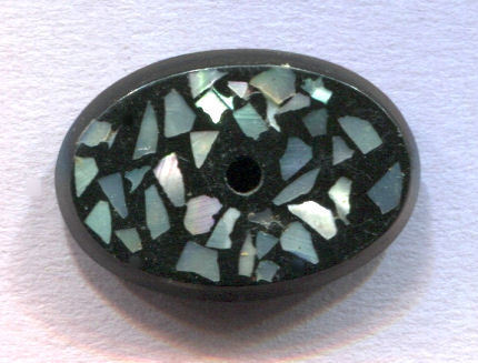 """Medium 1 & 1/8"""" OVAL Composition with Pearl Chips Inlay"""