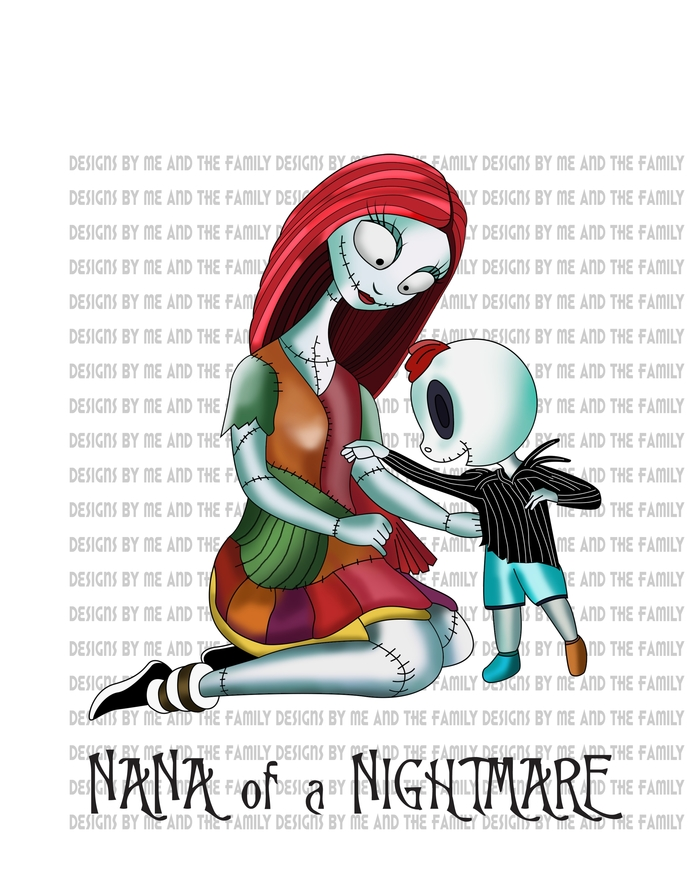 Nana of a Nightmare, Jack Skellington, Sally, Nightmare before Christmas, Oogie