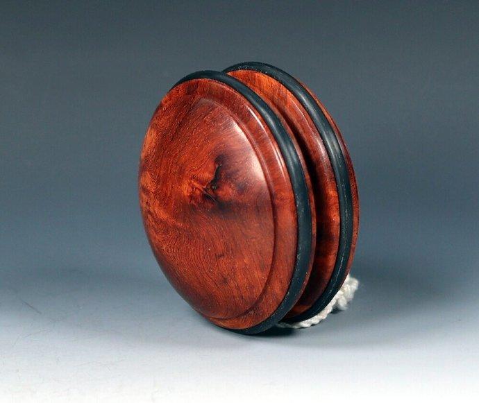 Rare Amboyna Burl Wood Handmade Imperial Yo-Yo