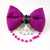 """""""I Hop So"""" Bunny Rabbit Purple Bow Tie for Pets, Hand Sewn, Cat Accessories"""